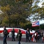 Giant Puerto Rico Flag Unfurled at Unity March