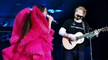 Gender debate rages over Ed Sheeran and Beyonce's Global Citizen Festival outfits