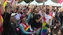 Taiwan celebrates same-sex marriage law