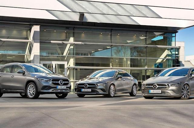Mercedes unveils plug-in hybrid versions of the CLA and GLA
