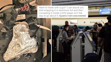 Man tried to sneak gun on to plane by disguising it in foil