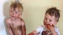 Hilarious photo proves kids and self-tanning lotion don't mix
