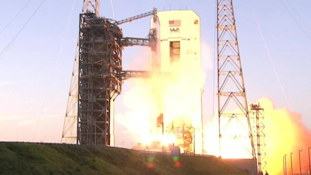 Delta IV rocket launches from Cape Canaveral, Florida