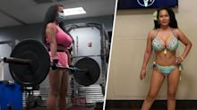 She took up weightlifting to care for her husband. Now she's a bodybuilder