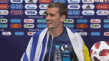 Why French hero wore a Uruguay flag to press conference
