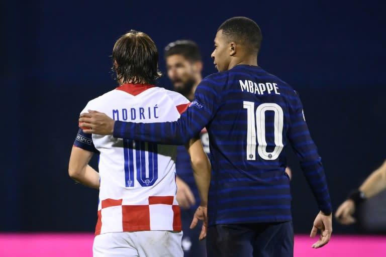 Kylian Mbappe grabbed the winner for France in Zagreb against Luka Modric's Croatia