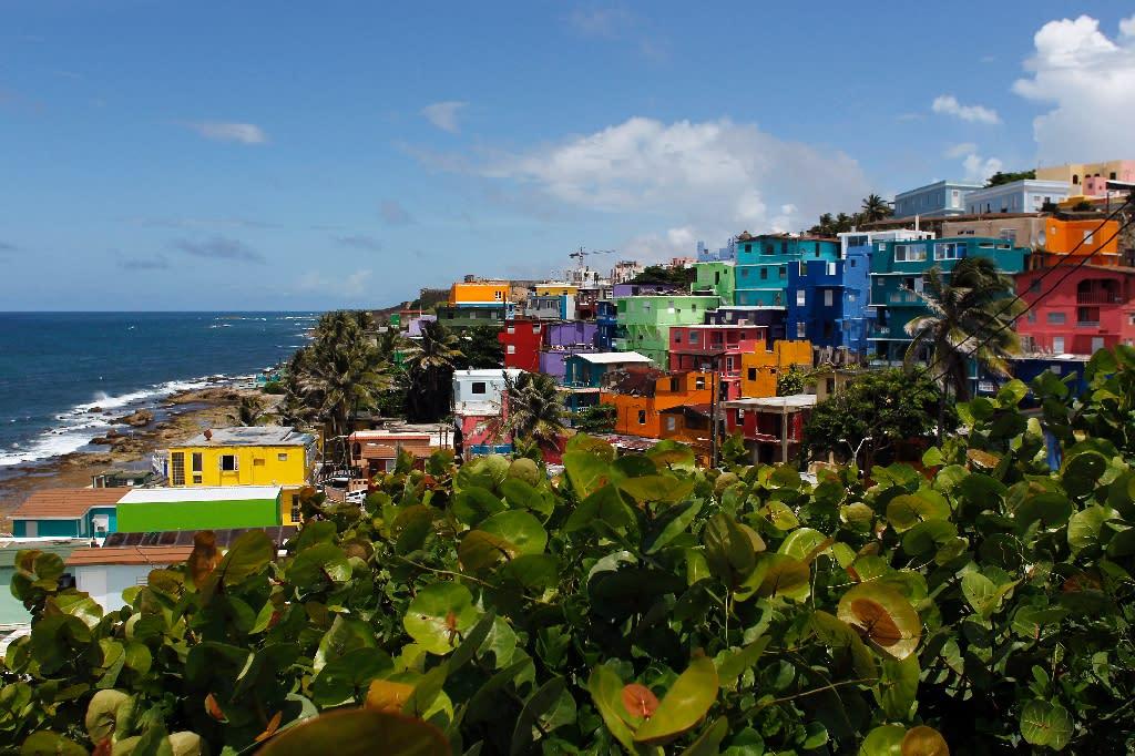 "A view of the neighborhood of La Perla, where the video ""Despacito"" was recorded in San Juan (AFP Photo/Ricardo ARDUENGO)"