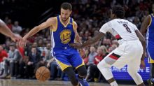 The Warriors needed only six minutes to end the Blazers' season