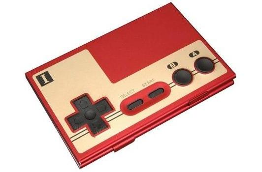 Hold your corporate contempt in this Famicom controller business card case