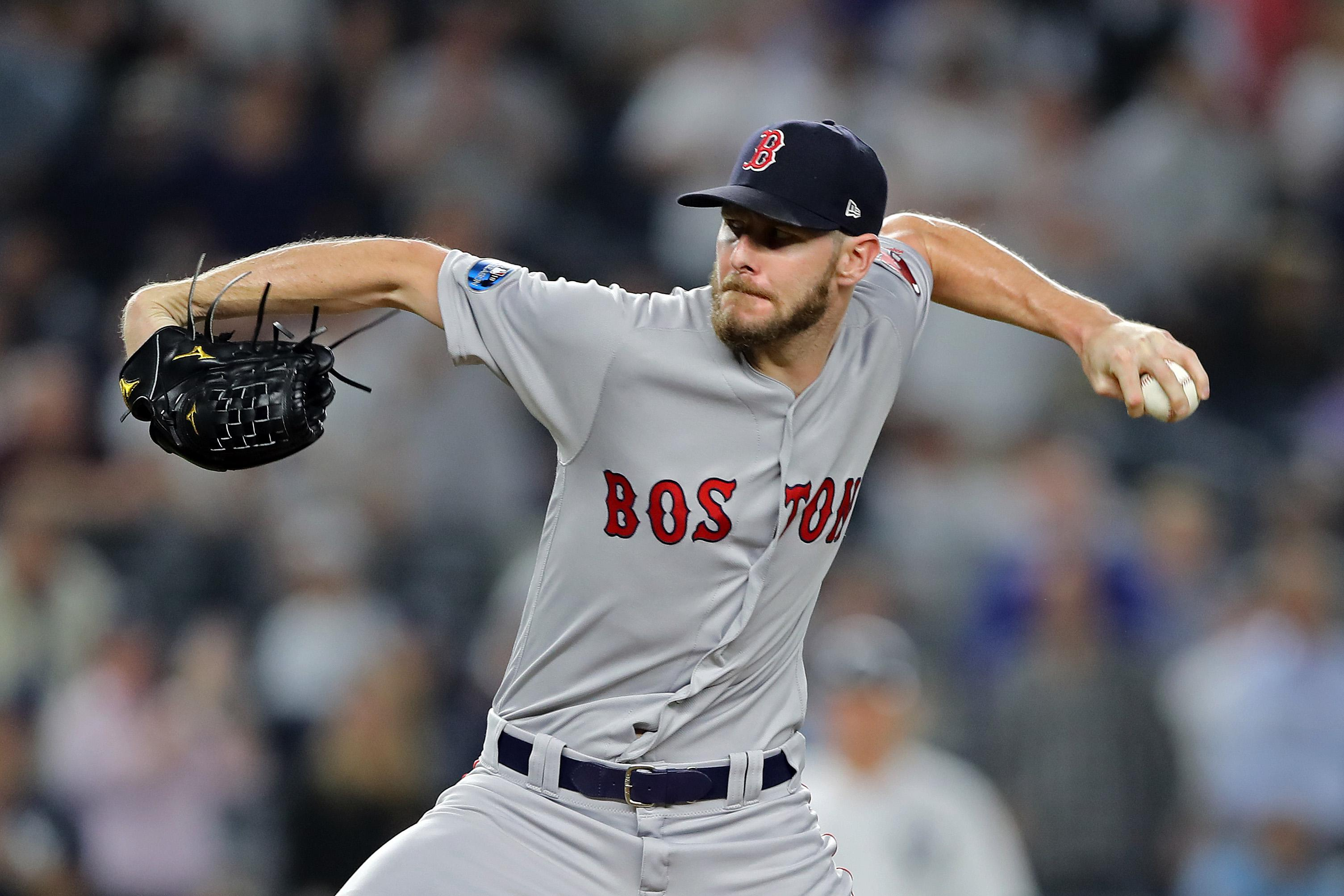 9224c95af54 Red Sox go for the throat, bring ace Chris Sale out of bullpen to help  eliminate Yankees