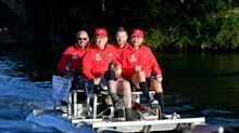 Rugby star and decathlete part of pedalo world record bid team