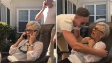 Man pranks grandmother with heartwarming surprise visit