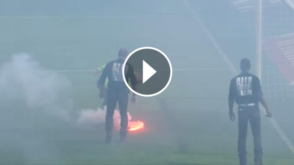 VÍDEO: El Nantes-Burdeos, interrumpido por las bengalas