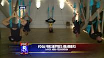 Upside Down Yoga Helps Service Members Relax