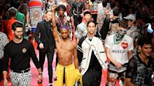 Model Protests D&G in the Middle of a Fashion Show