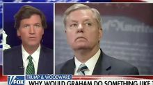 Fox's Tucker Carlson blames Lindsey Graham for Trump's Bob Woodward interview, suggests sabotage