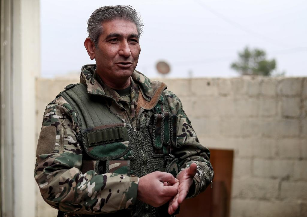 Redur Khalil, a spokesperson and senior official in the Kurdish-led Syrian Democratic Forces (SDF), speaks to AFP in the northeastern Syrian town of Amuda on January 4, 2019