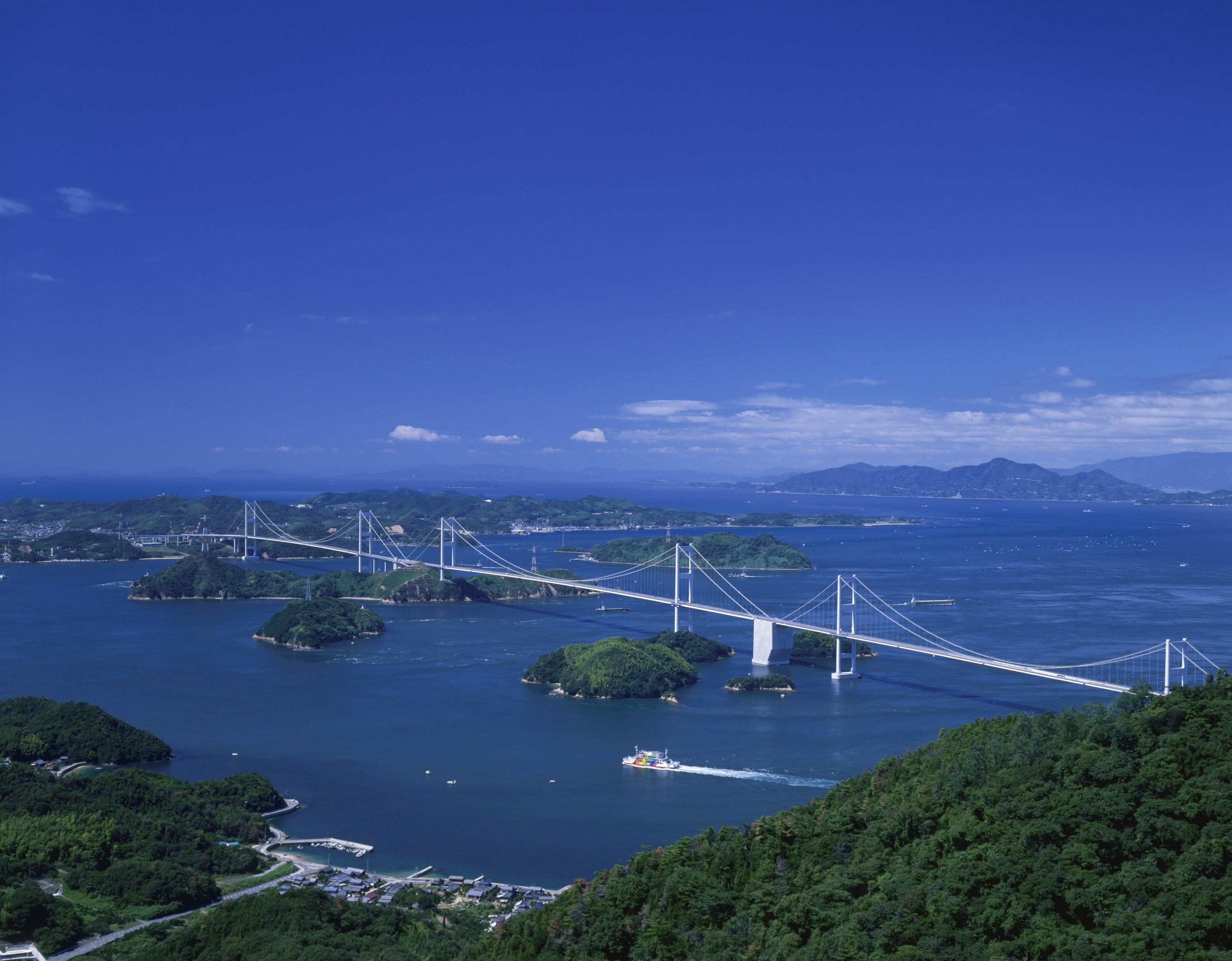 At first glance it would appear biking on these roads would be dangerous, but the <strong>Shimanami Kaido</strong> in Japan is separated from the road. This means riders can enjoy the 40 mile road through a series of bridges and scenic islands at their own pace.