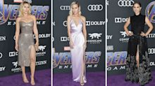 Brie Larson, Natalie Portman and Scarlett Johansson work daring thigh high slits at 'Avengers' premiere