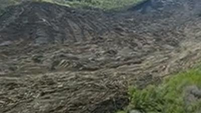 Raw: Chopper View Shows Size of Mudslide