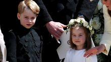 Prinz George als Pagenjunge bei Eugenies Hochzeit