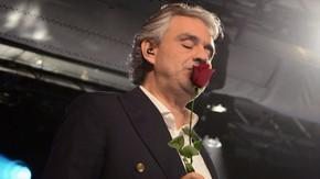 Andrea Bocelli Smelling The Shit Out Of Red Rose