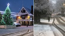 Snow sweeps UK as forecasters predict chilly weekend of frost and fog