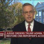 Judge orders White House to restore CNN's Jim Acosta's pr...