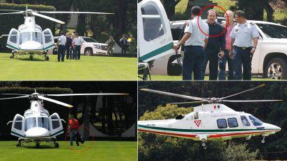 Usa helicóptero de Fuerza Aérea para ir a jugar golf