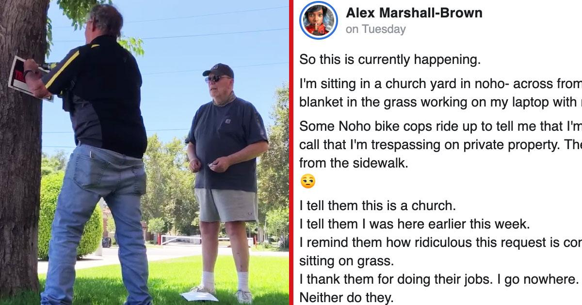 Church Posts 'No Trespassing' Sign After Black Woman Merely Sits On Lawn