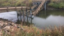 New bridge collapses into river in rural Saskatchewan hours after opening