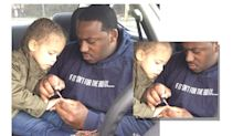This dad polishing his daughter's nails will seriously melt your heart