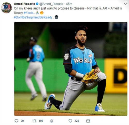 (Amed Rosario on Twitter)