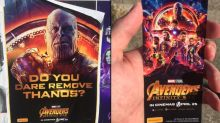People are finding free tickets for 'Avengers: Infinity War' behind posters
