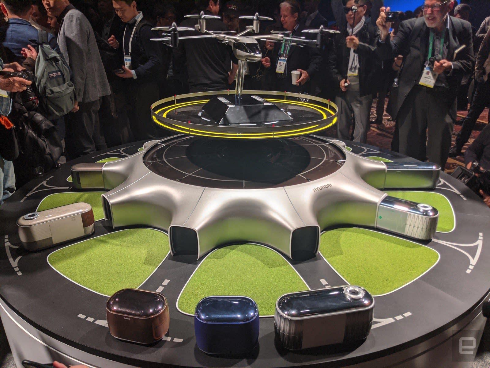 Hyundai Hub flying taxi station concept