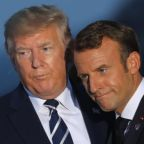 Trump 'burst out' into description of Macron's handshake during first Pentagon briefing, account says