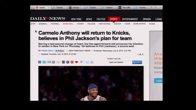 Where is Carmelo Going? Chicago Rumors Continue to Stir