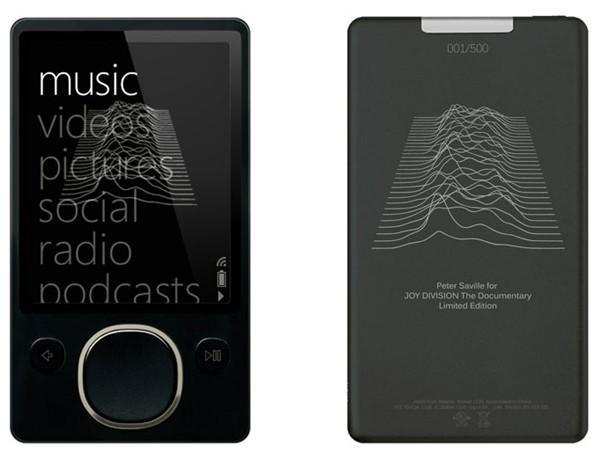 Joy Division-themed Zune gets pictured and priced