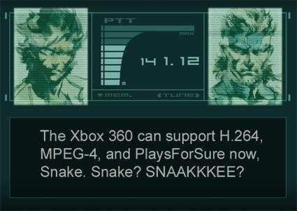 Xbox 360 gets H.264, MPEG-4, PlaysForSure in Spring update