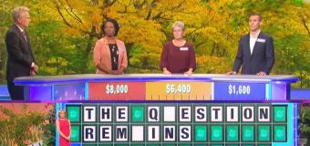 'Wheel' contestants struggle with easy puzzle