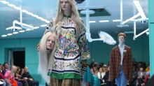 Models Carried Their Own Heads at the Gucci Show