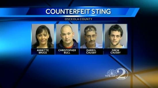4 arrested in counterfeit check sting