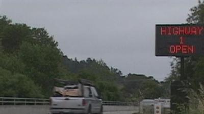 Highway One To Big Sur Reopens