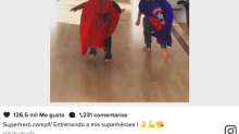 ¡Alerta ternura! Chris Hemsworth entrena a sus mini-héroes