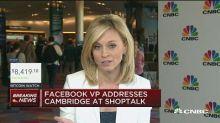 FB exec addresses Cambridge allegations at conference