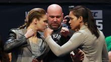 Ronda Rousey bolts out of raucous MSG crowd after staredown
