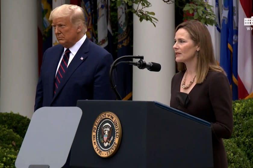 Trump announces his Supreme Court pick: Judge Amy Coney Barrett