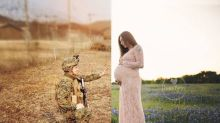 Photographer reunites couple 7,000 miles apart in maternity photoshoot