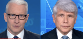 Anderson Cooper and Rod Blagojevich. (CNN screen shot)