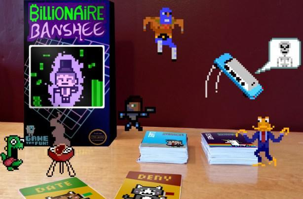 The perks and quirks of Billionaire Banshee, a card game with cool cameos